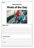 Reading Skills using Photos- Inferences 6 WEEKS OF WORKSHEETS