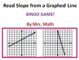 Reading Slope from Graphed Lines BINGO (Mrs Math)