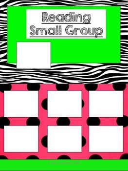 Reading Small Group Posters