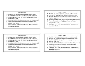 Reading Smart 7 Strategies (desk size)