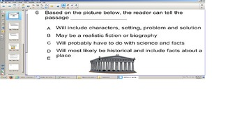 Reading Smart board senteo test, title and pictures prediction, infer, SOL pract