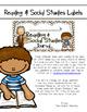 Reading & Social Studies Journal Labels