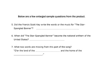 History Reading Social Studies FRANCIS SCOTT KEY and STAR-SPANGLED BANNER +10 Qs