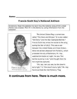 History Reading Social Studies FRANCIS SCOTT KEY and STAR-