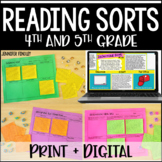 Digital Reading Activities | Reading Sorts with Google Sli