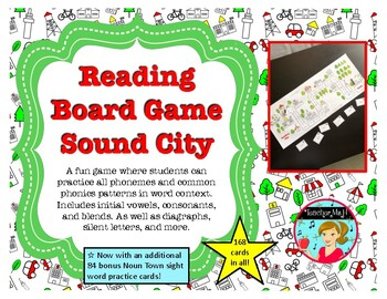 Reading Board Game: Sound City