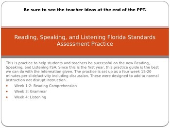 Reading, Speaking and Listening FSA Practice Presentation