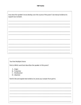 Reading, Speaking and Listening FSA Practice Student Handout