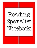 Reading Specialist Lesson Planner Notebook