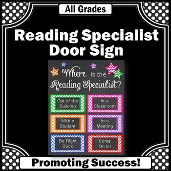 Where is the Reading Specialist Office Door Sign, Back to School Decor
