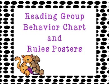 Reading Specific Behavior Chart-Clip Chart and Rules Posters