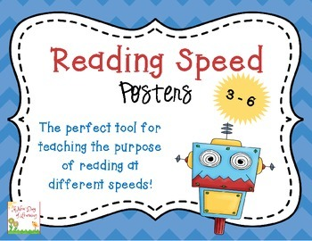 Reading Speeds Lesson, Game, and Posters Grades 3-6
