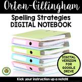 Reading Spelling Concepts Strategies DIGITAL NOTEBOOK Orton-Gillingham Materials