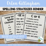 Reading Spelling Concepts and Strategies Binder: Orton-Gil