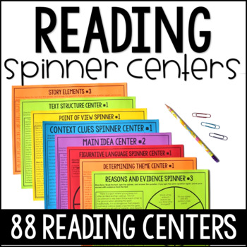 Reading Spinners Centers Bundle | 4th and 5th Grade Reading Centers