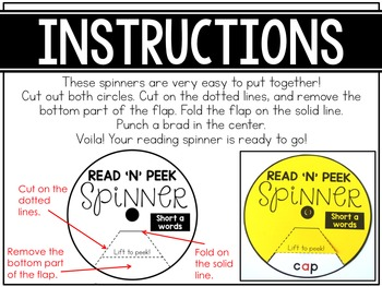 Reading Spinners - Long Vowels