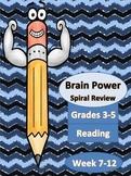 Reading Spiral Homework Week 7-12
