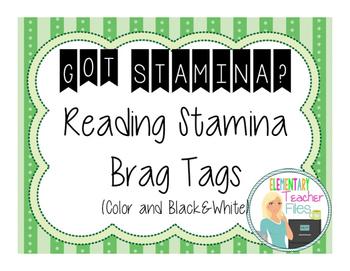 Reading Stamina Brag Tags