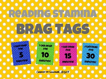Reading Stamina Brag Tags