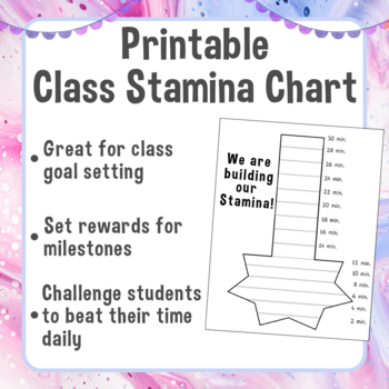 graphic regarding Printable Reading Chart referred to as Printable Cl Endurance Chart Looking at Endurance Monitoring Chart