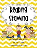Reading Stamina Graph Poster
