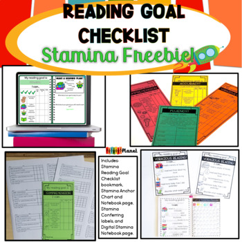Reading Stamina Graph and Poster Freebie