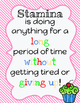 Reading Stamina Poster and Tracking Graph
