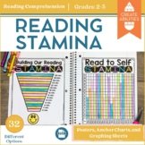 Reading Stamina Posters, Anchor Charts, and Graphing Sheets