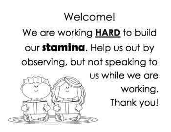 Reading Stamina Sign
