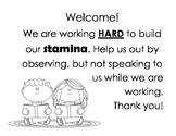 Daily 5 Reading Stamina Sign