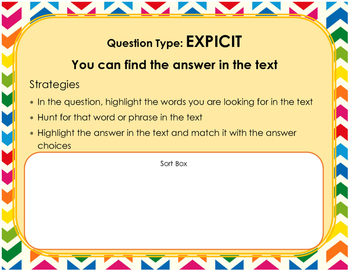 Reading Standardized Test Question Sort and Strategies