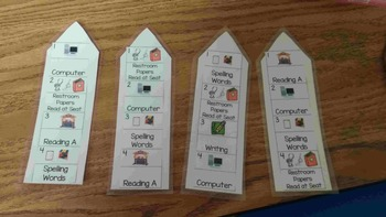 Reading Station Bookmarks-Forever Freebie