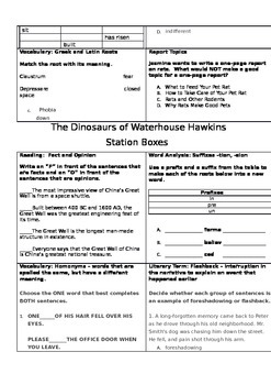 Reading Station Boxes for Unit 3 Bundle