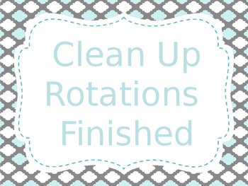 Reading Station/Rotation automated Presentation Aqua & Grey (editable)