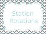 Reading Station/Rotation automated Presentation Aqua & Gre