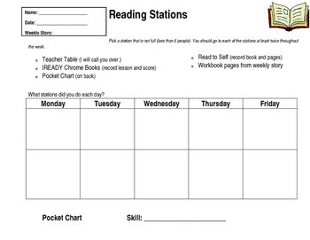 Reading Station Sheet