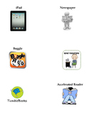 Reading Stations Icons, Labels for Reading Rotation Chart
