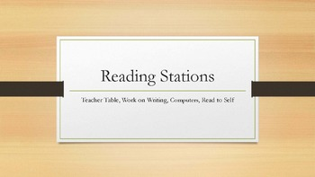 Reading Stations Timer with Sound - Editable*