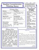 Reading Stems Student Reference Sheet **FREEBIE**