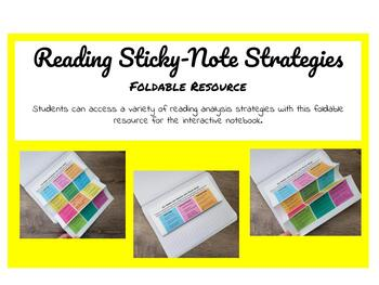 Reading Sticky-Note Strategies Foldable