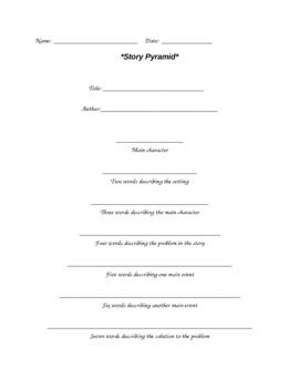 Reading Story Pyramid
