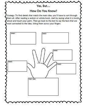 Reading Stratagies Book Goal 9 Determining Key Details-NF Graphic Organizers