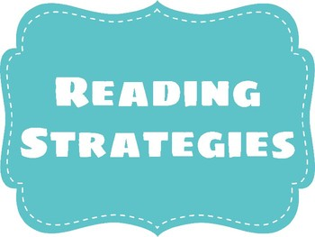 Reading Strategies Anchor Chart- Teal