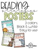 Reading Strategies   Animal Posters