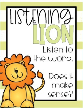 Reading Strategies | Animal Posters