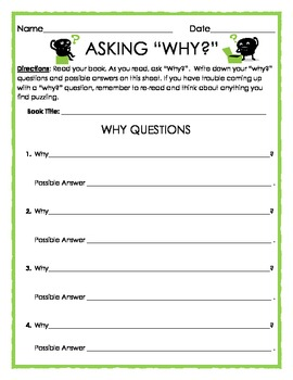 Reading Strategies: Asking Why?