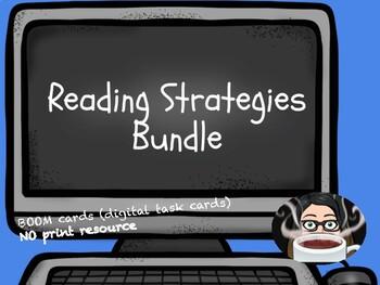 Reading Strategies BOOM cards™ Bundle digital task cards