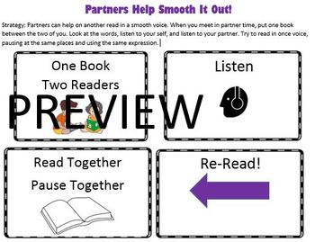Reading Strategies Book Goal 4.9 Partners Help to Smooth It Out