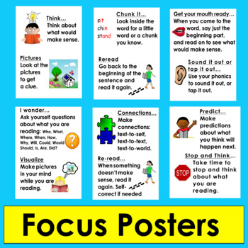 Guided Reading Strategies Bookmark & Focus Cards:For Students,Teachers, Families