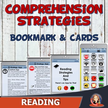 Cell Phone Reading Strategies Bookmark and Key Cards